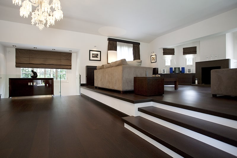 Unique living room design - The brown Residence